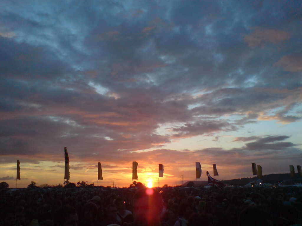 The Other Stage at sunset