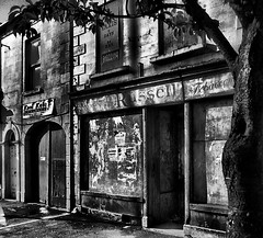 "Russell's Tobacconists, Regent Street, Newtownards (John D McDonald) Tags: street blackandwhite bw building monochrome buildings geotagged mono terrace down regentstreet decayed derelect countydown newtownards ards codown terracedstreet ""artinbw"" betterthangood"