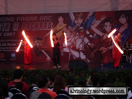 Cool fire dancers