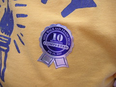 The ribbons we got for completing the walk