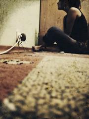 Staring... (shadowphobia photography) Tags: shadow portrait liz girl self oldphoto eliza staring phobia