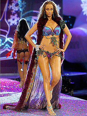 Tyra Banks at Lingerie Fashion Show