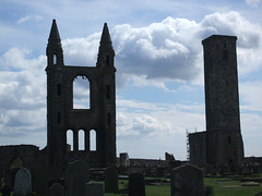 ST ANDREWS CATHEDRAL RUINS (blawjaws) Tags: old city uk sea colour church architecture catchycolors scotland photo interestingness ruins europe photos fife famous scottish standrews churchesandhousesofworship
