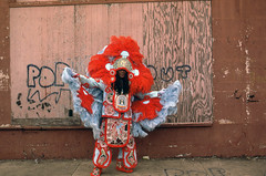 MARDI GRAS INDIANS (Christopher Porché West - A Studio On Desire) Tags: mardigrasindians mardigras neworleans documentaryphotography christopherporchewest artist carnival carnivale afroamerican heritage tradition ritual festival needle beads thread craft artwork sewing feathers stjosephs porchewest black indiansmardi grasindigenous indiansnew orleansmaskingvernacular culturebeadsrhinestonesfeathersblack mardi gras indians indian louisiana