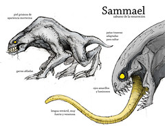 Lmina Sammael (Jugo de Naranjo) Tags: monster drawing estudio study creature dibujo hellboy monstruo criatura sammael