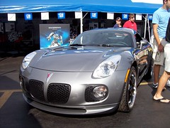 The Jazz Pontiac Solstice from the Transformers movie... (Steve Brandon) Tags: auto usa film car movie restaurant parkinglot automobile gm michigan unitedstatesofamerica detroit jazz diner voiture solstice transformers suburb pontiac autobot royaloak generalmotors woodwardavenue woodwarddreamcruise michaelbay gmfyi  athensconeyisland