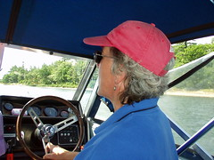 Coco Brennan drives the Evoy taxi (fortinbras) Tags: georgianbay cottage a200
