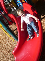 Sliding (Jeff Youngstrom) Tags: boy playground nathan slide issaquah memorialfield