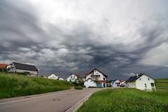 Tormenta / Storm ( Ramon Garrote) Tags: road street houses storm germany calle village carretera pueblo tormenta alemania casas hierbas stutgart