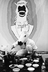 mirrors (Diego Rondn Ichikawa) Tags: blackandwhite horse japan tokyo artists odaiba designfesta diegorondon designfesta07 hondapanda diegorondonichikawa