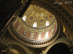 Main dome of St. Stephen basilica (aGinger) Tags: gold hungary basilica budapest dome inside ststephen blueribbonwinner aplusphoto