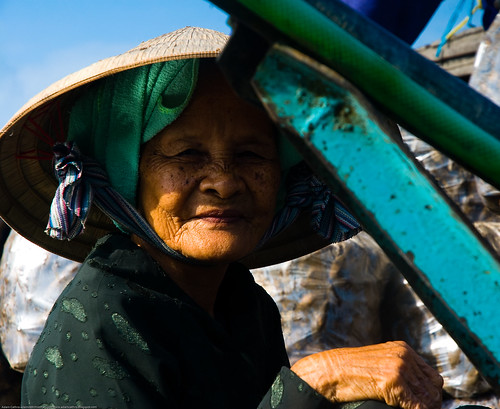 Old woman at Phong Dien, in Vietnam's Mekong Delta