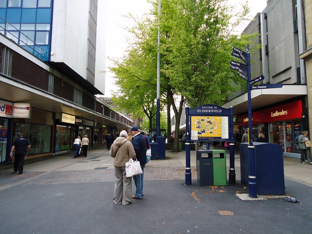 Shoppers in Huddersfield