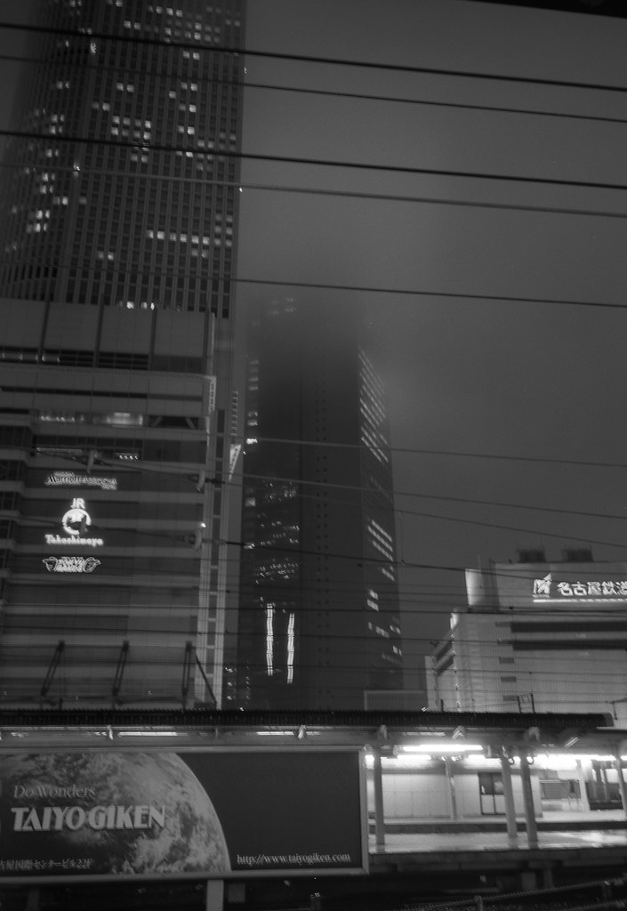 梅雨の名古屋駅