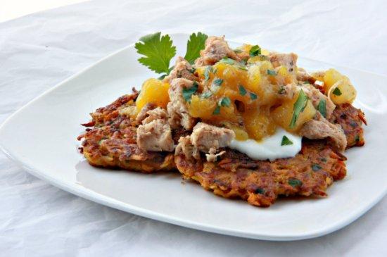 Sweet Potato Cakes w/ Mango Chutney 550