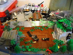 WIP 2 (ReddWolfAK) Tags: world two flower tree green modern forest war lego zombie misc wwii assault bunker vegetation ww2 etc hi ba sas brickarms
