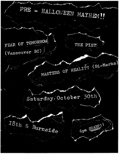 10/30/10 Fear of Tomorrow(BC), The Pist + Masters of Reality
