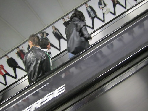 Old Street Tube escalators - Converse takeover