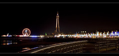 Blackpool illuminations and tower. Explore Frontpage (Ianmoran1970) Tags: tower wheel fence lights golden illuminations ferris explore frontpage blackpool goldenmile explored