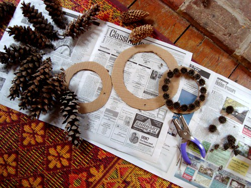nature wreathes creating