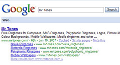 Mr.Tones  in Google SERP