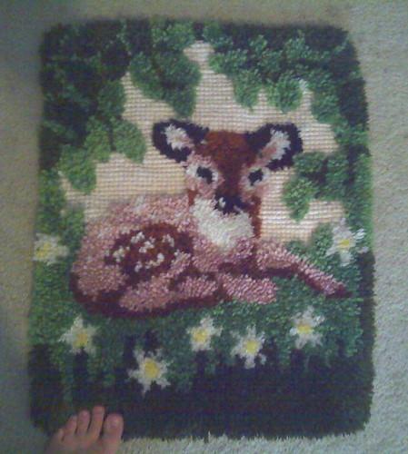 cuddly rug/mat
