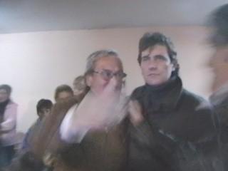 Mario Boccardo fue a reconocer la victoria de Edson Franco en el acto de ganador