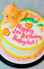 Sadie's Kewpie Cake (boopsie.daisy) Tags: birthday pink baby color beautiful yellow cake festive happy one pretty sweet adorable babydoll scrumptious oneyearold kewpie july10 eyecandyart