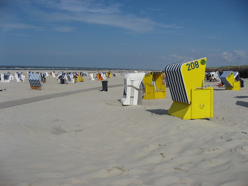 "Beach chairs at ""Weiße Düne"" beach"