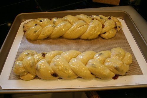 Pulla, glazed and ready for the oven