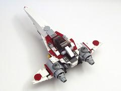 ZR-32a Wraith (peterlmorris) Tags: lego moc starfighter illyrian
