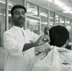 My barber. (ndnbrunei) Tags: blackandwhite bw 120 6x6 tlr film rollei mediumformat square kodak bn mf kodakbw400cn brunei rolleicord bw400cn classicblackwhite 25faves rolleigallery ndnbrunei