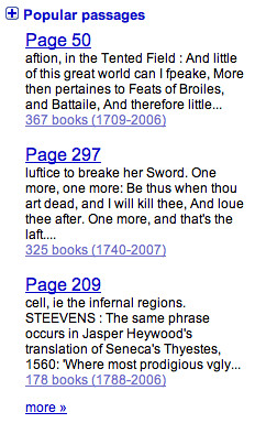 Google Book Search Popular Passage
