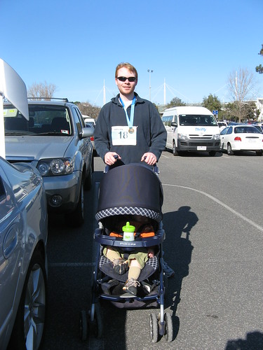 Daddy and Henry after the 5K