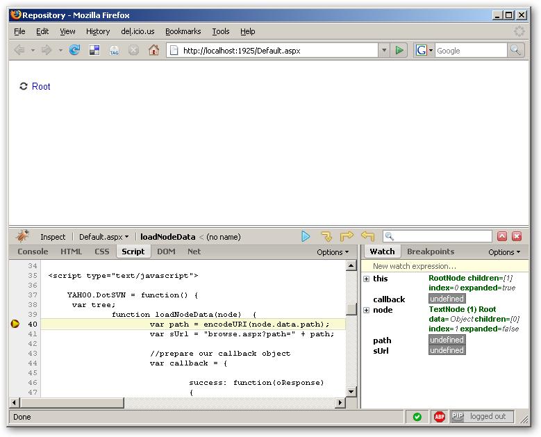 FireBug JavaScript Debugging