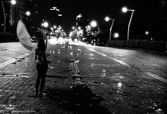 (Solar ikon) Tags: street leica people blackandwhite bw motion night umbrella walking 50mm kodak trix highcontrast hc110 xian hardcore 400 blury summicronm voigtlanderbessar2a nacturnal