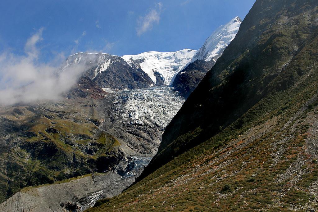 Glacier de Bionassay from Col de Tricot