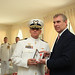 His Royal Highness The Duke of York, Prince Andrew, Honoured Captain Samuel Walker of the US Coast Guard as an Honorary Member of Order of the British Empire