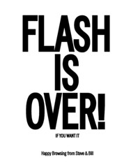 flash is over