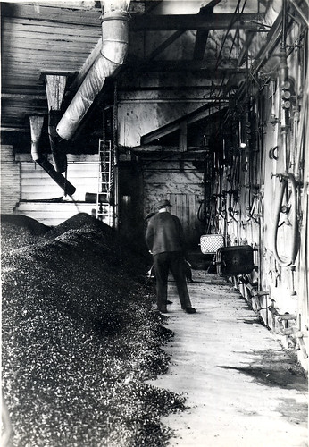 Coal in the heating plant