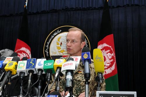 ISAF Spokesperson,  Afghan General Provide Operational Update