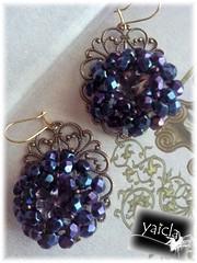 Para Boda (Yaicla) Tags: en para boda central mano viejo oro piedra hecho azules pendientes tonos morados fornitura yaicla