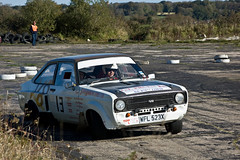 Mk2 Ford Escort with a V8 engine Prima Stages Smeatharpe 2010 (Alastair Cummins) Tags: cars ford car stage rally stages subaru prima mitsubishi peugeot sme airfield 2010 rallying smeatharpe