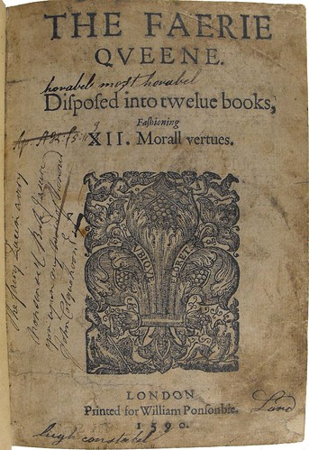 Title page of the first edition of 'The Faerie Queene'.