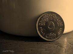 Bronze legacy (Hoda M. Taحawy) Tags: sepia coin 5 egypt 2010 piasters