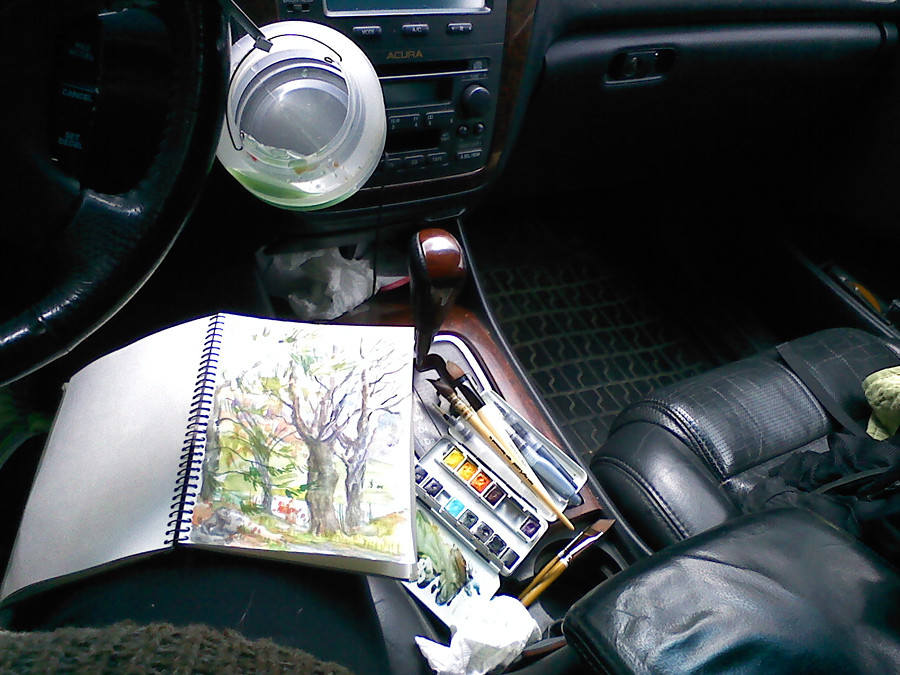 Car - my work station.