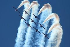 Snowbirds (AndrewC75) Tags: show airplane airport aircraft aviation smoke air aerial formation airshow stunt snowbirds tutor dobbins ct114 mge kmge