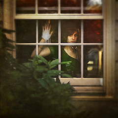 through glasses (brookeshaden) Tags: white window glass girl paint cry fragile myparentshousewhereigrewup brookeshaden texturebylesbrumes