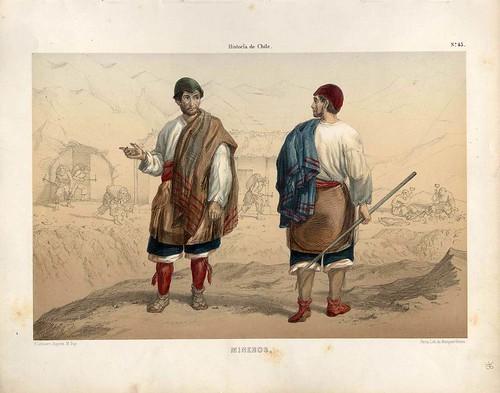 037-Mineros-Atlas de la historia física y política de Chile-1854-Claudio Gay