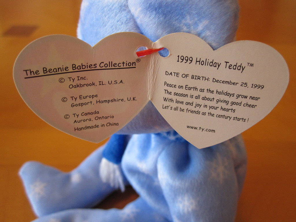 Ty 1999 Holiday Teddy Beanie Baby Hang Tag (jessicagreen0202) Tags   christmas xmas baby 5bb076d5207b